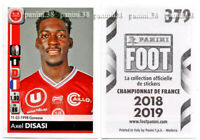 "RARE !! Sticker ROOKIE Axel DISASI ""FRENCH FOOT 2018-2019"" Panini"