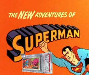 1968 A&BC Superman in the Jungle PREHISTORIC PERIL #48 NM-MINT 8 - garno PSA