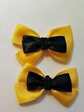 Madelienas SHOE CLIPS.SATIN ribbon  Emma Bow W/ glittery Centre(Style  3A )