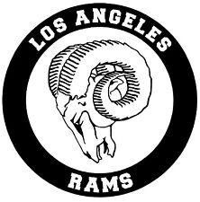 LOS ANGELES RAMS Vinyl Decal Sticker Window Wall Bumper Car Black