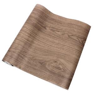 10M Wood Grain Peel-Stick Film Self-Adhesive Contact Paper Wallpaper Room Decor
