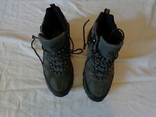 KHOMBU Mens Black/Grey Leather Hiking Outdoor Tactical Shoes - Size 9M NICE!