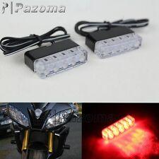 2 Universal LED Rear Marker Brake Tail Lights For Motorcycle Street Hustler Bike