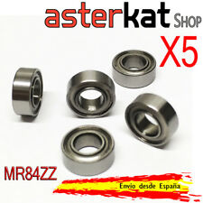 5x Rodamiento MR84ZZ 4x8x3 pequeño cojinete MR84z 4*8*3mm mini bearing MR84