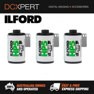 ILFORD HP5 PLUS ISO 400 35MM 24 EXPOSURES BLACK & WHITE  FILM (1700646) (3 PACK)