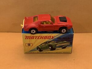 Rare Matchbox Superfast No. 9 AMX Javelin Red Body with Box