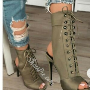 Laced Stiletto Booties