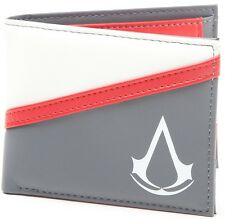 Assassin's Creed Crest Wallet (Grey/White/Red) | Official Gaming Merchandise New