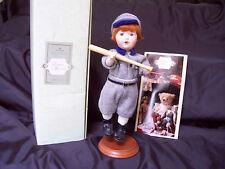 Hallmark, Victorian Memories,Doll,Porcelain,A bner,Baseball,1994,nice collectible