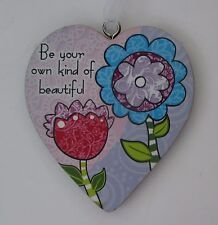 odd Be your own kind of beautiful simple LOVE HEART ORNAMENT ganz