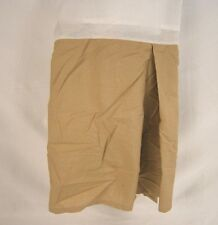 Company Store 210Tc Classic Percale Cotton Bed Skirt Tan Twin Nwd #1127S Gp72