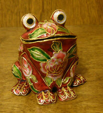 Victorian Treasures #A50-2 FROG, Maroon w/ pink, NEW from Retail Shop, MIB