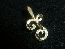 """14K SOLID YELLOW GOLD LETTER """"F"""" CHARM"""