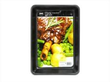 Non-Stick Large Oblong Roaster Tray Carbon Steel Black 36cmx25cm Great Value!