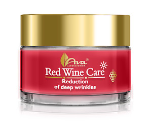 Ava RED WINE CARE Day Cream for Mature Skin - Reduction of Deep Wrinkles  50ml