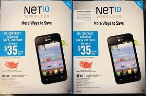 "2 Phones:  NET10 - LG OPTIMUS FUEL ANDROID 3.5"" NEED TO UNLOCK"