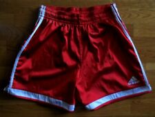 Vintage Adidas Soccer Shorts Unisex L Red Climalite Nylon Retro Running Tennis