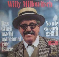 """7"""" 1970 POLYDOR RARE MINT- ! WILLY MILLOWITSCH : So wie es Euch gefälltr"""