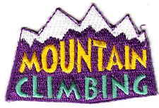 """MOUNTAIN CLIMBING""  - Iron On Embroidered Applique Patch, Sports,Games, Hiking"