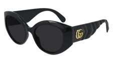 Neues AngebotGucci Sonnenbrille GG0809S  001 Schwarz - Grau - Frau