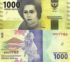 INDONESIA 1000 Rupiah Banknote World Paper Money UNC Currency Pick p-NEW 2016