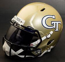 *CUSTOM* GEORGIA TECH YELLOW JACKETS NCAA Riddell SPEED Replica Football Helmet