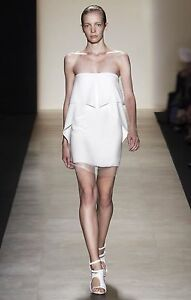 BCBG MAXAZRIA Runway Strapless White Dress NWOT Size 4 AU 8-10