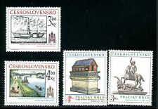 LOT 84368 MINT NH 2420-2423 ART ON STAMPS FROM CZECHOSLOVAKIA