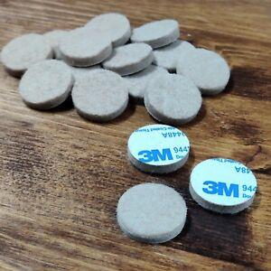3M Self Adhesive Anti Scratch Felt Furniture Feet 20mm Diameter x 16 per pack