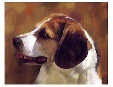 artav Beagle 04 Art Print of Acrylic on Canvas Painting
