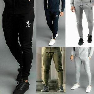 GYM KING Mens Fleece Slim Joggers Tracksuit Designer Jogging Bottoms Sweatpants