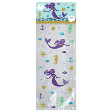 20 Mermaid Treat Bags Birthday Party Favor Kit Includes 20 Headers