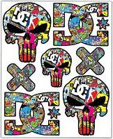 Set 7 PVC Vinyle Autocollants Punisher DC Bomb Crâne Skull Stickers Voiture Moto