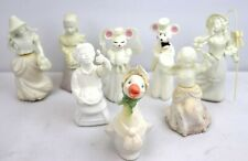 Lot of 8 Vintage Avon Perfume Bottles Figurines Cologne Little Bo Peep Mary Jack