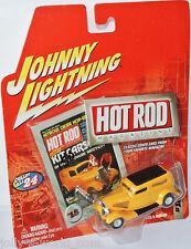HOT ROD MAGAZINE - 1933 FORD SEDAN DELIVERY-YELLOW - 1:64 Johnny Lightning