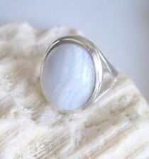Ring mit blue lace Achat , 925er Silber, Gr. 16,5 - Agat - Agate - Chalcedon