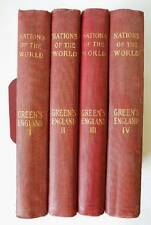 NATIONS of the WORLD: ENGLAND in 4 VOLUMES by John Richard Green, LL.D. 1900