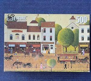 RoseArt Encore Americana Main Street Jigsaw 500 Pc Puzzle 08636 Ca. 2000 SEALED