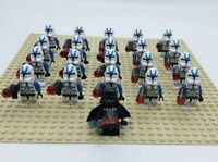 20x Clone Wars 501st Star Wars Clone Troopers Mini Figures (LEGO Compatible)