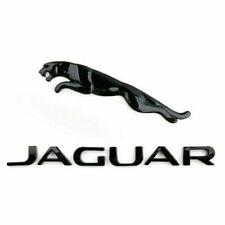 Schwarz  Jaguar Auto Aufkleber  Emblem Logo Hinten Haube Kofferraum Außendesign