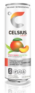 CELSIUS Fitness Drink, ZERO Sugar, 12oz. Slim Can, 12 Pack