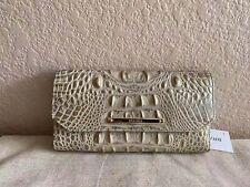 brahmin soft checkbook wallet silver birch melbourne