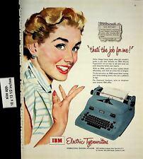 1953 IBM Electric Typewriter Vintage Print Ad 6941