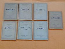 LOTTO 7 LIBRI TOURING CLUB ITALIA '30-'41 ATTRAVERSO L'ITALIA ILLUSTRAZIONI