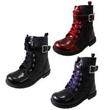 Chaussures rouges à lacets pour fille de 2 à 16 ans