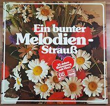 """12"""" LP Vinyl  Ein bunter Melodien-Strauß  Jäger auf der Kurpfalz Enzian Edelweiß"""