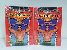 2 BOX LOT WCW Nitro Starter Box Trading Card Game Starter Deck Box Hard To Find