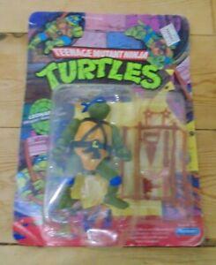 """TMNT Leonardo 5"""" action figure Carded Vintage Playmates"""