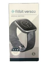 Fitbit Versa 2 Special Edition Activity Tracker - Smoke Woven/Mist Gray Sealed