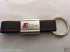 AUDI S LINE LEATHER FOB KEY CHAIN KEY RING A1 A2 A3 A4 A5 A6 A7 A8 TT Q3 Q5 Q7